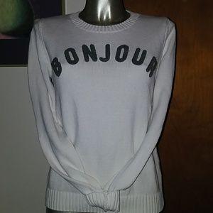 """GAP """"Bonjour"""" Cotton Sweater"""
